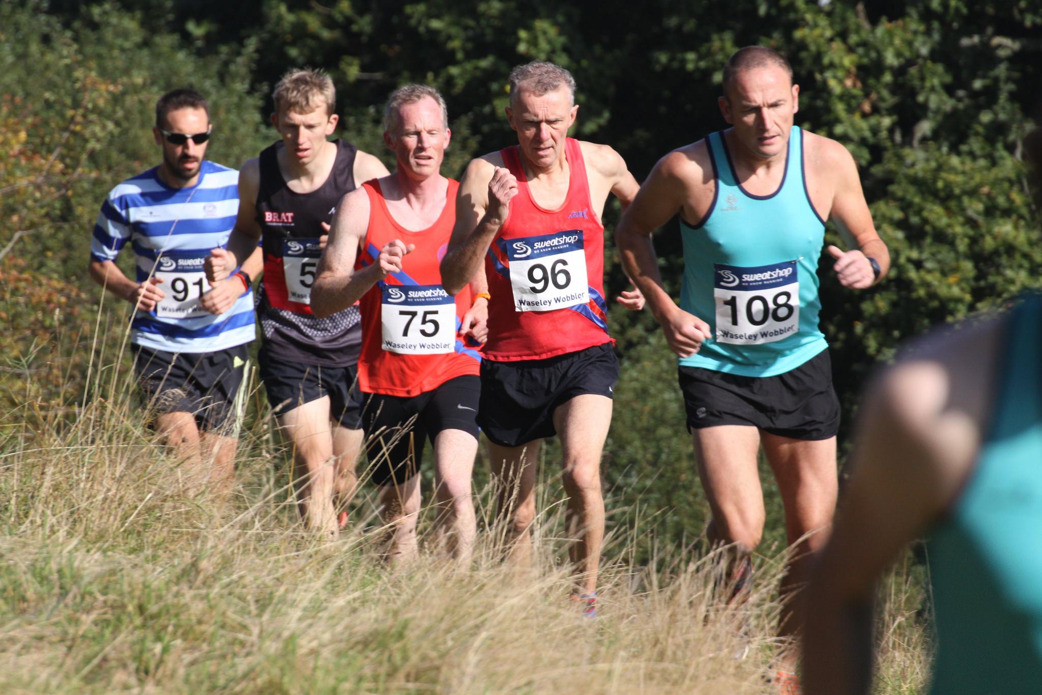 Race winner number 91 Matt Biggs of Dudley Kingswinford (far left)